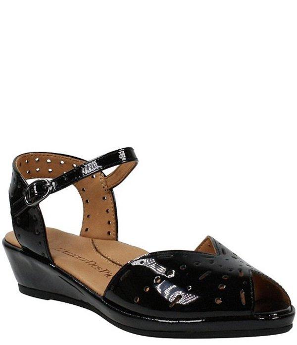 見事な創造力 ラモールドピード レディース サンダル シューズ L'amour Des Pieds Brenn Perforated Patent Leather Sandals Black Patent, ユキポート 85c7be15