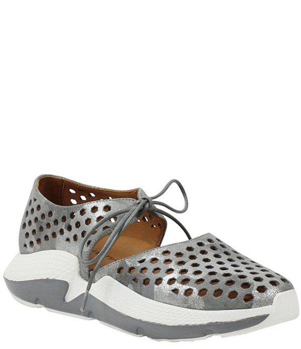 ラモールドピード レディース スニーカー シューズ L'amour Des Pieds Himar Perforated Metallic Leather Sneaker Gray Silver