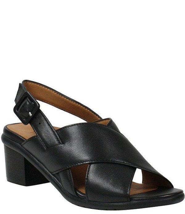 ラモールドピード レディース サンダル シューズ L'amour Des Pieds Wangala Leather Block Heel Sandals Black Nappa