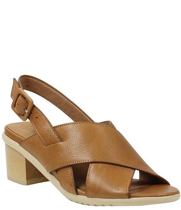 ラモールドピード レディース サンダル シューズ L'amour Des Pieds Wangala Leather Block Heel Sandals Cognac
