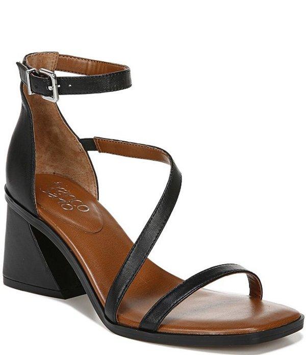 フランコサルト レディース サンダル シューズ Sunei Strappy Leather Square Toe Dress Sandals Black