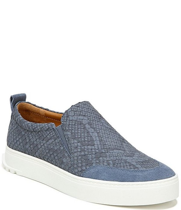 フランコサルト レディース スニーカー シューズ Sarto by Franco Sarto Dannon Snake Print Leather Slip On Flatform Sneakers Denim