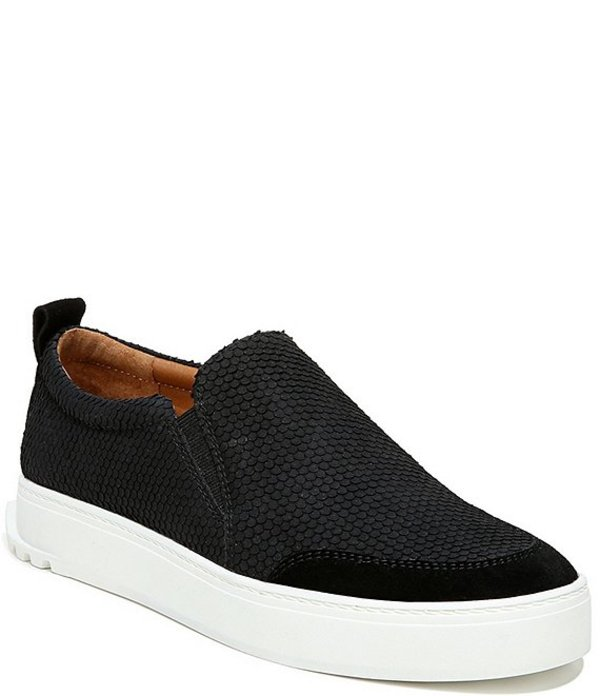 フランコサルト レディース スニーカー シューズ Sarto by Franco Sarto Dannon Snake Print Leather Slip On Flatform Sneakers Black