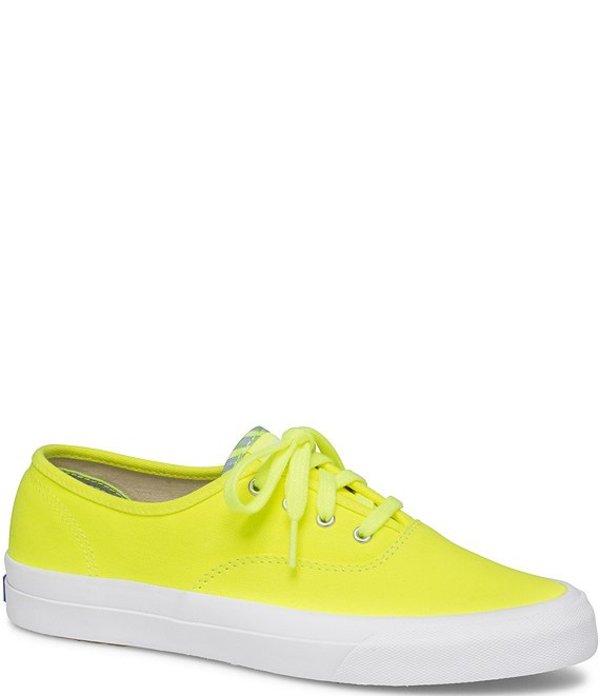 ケッズ レディース スニーカー シューズ Surfer Neon Canvas Lace-Up Sneakers Neon Yellow
