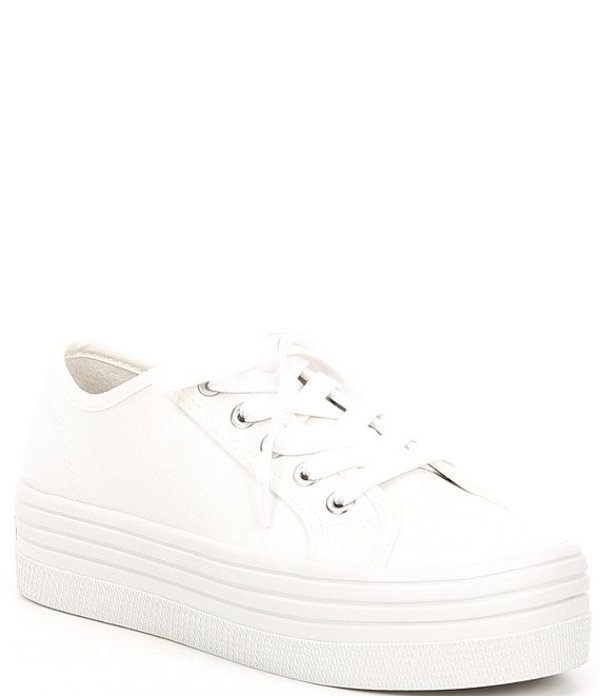 スティーブ マデン レディース スニーカー シューズ Bobbi30 Platform Lace-Up Sneakers White