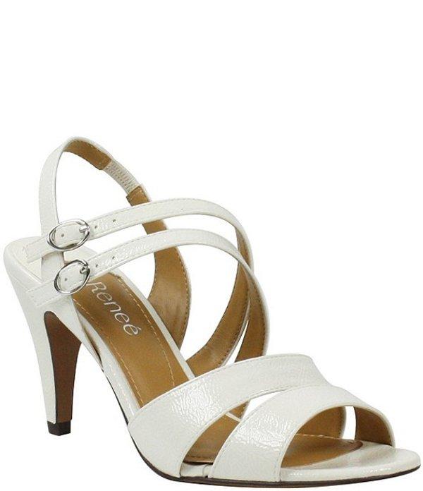 ジェイレニー レディース サンダル シューズ Uliana Strappy Crinkle Patent Dress Sandals White Crinkle