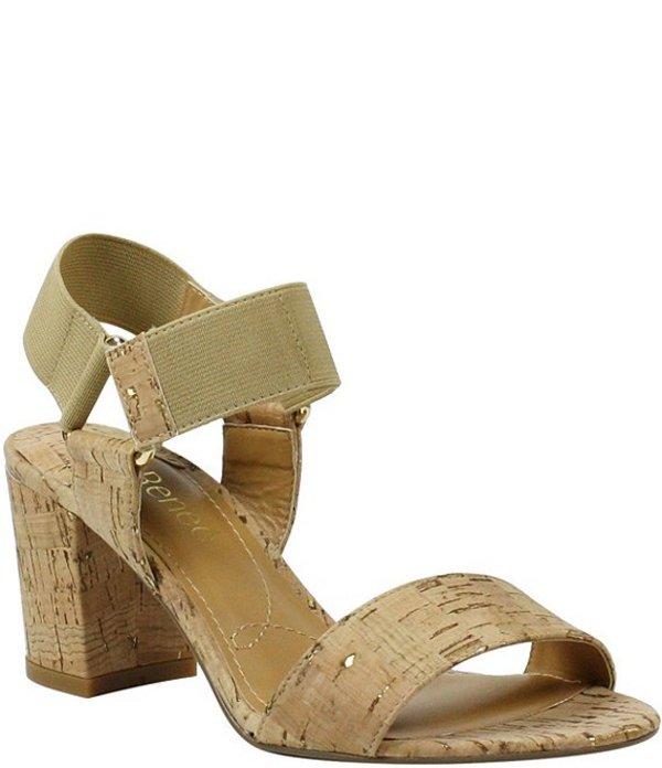 ジェイレニー レディース サンダル シューズ Zidane Cork Elastic Block Heel Sandals Natural/Gold Cork