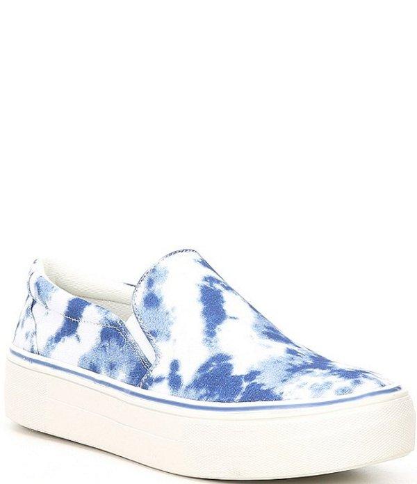 スティーブ マデン レディース スニーカー シューズ Gills Canvas Tie Dye Platform Sneakers Blue/Multi