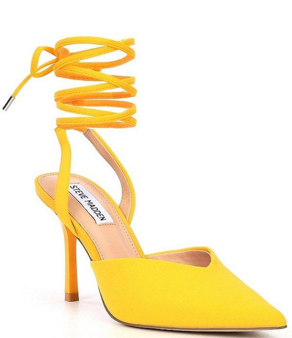 スティーブ マデン レディース ヒール シューズ Mari Ankle Wrap Pumps Yellow