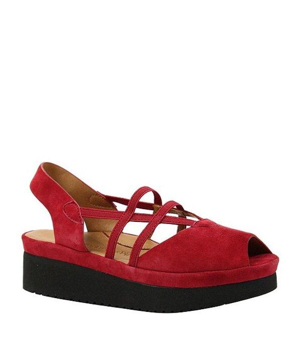 ラモールドピード レディース サンダル シューズ Adelais Suede Slip-On Platform Sandals Red Suede