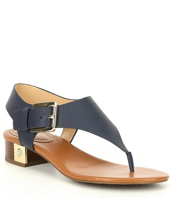 マイケルコース レディース サンダル シューズ MICHAEL Michael Kors London Thong Block Heel Sandals Admiral