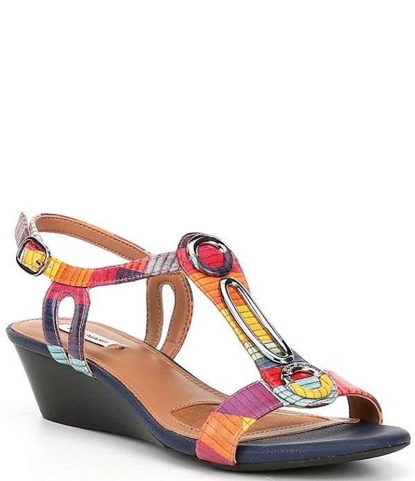 アレックスマリー レディース サンダル シューズ Mendall Printed Ornamental Wedge Sandals Tile/Multi