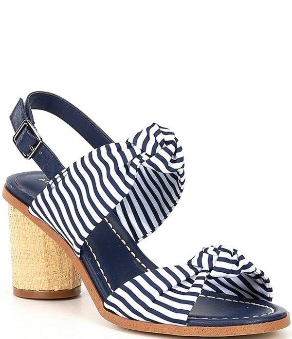 アレックスマリー レディース サンダル シューズ Haonny Striped Knotted Band Sandals Navy/White