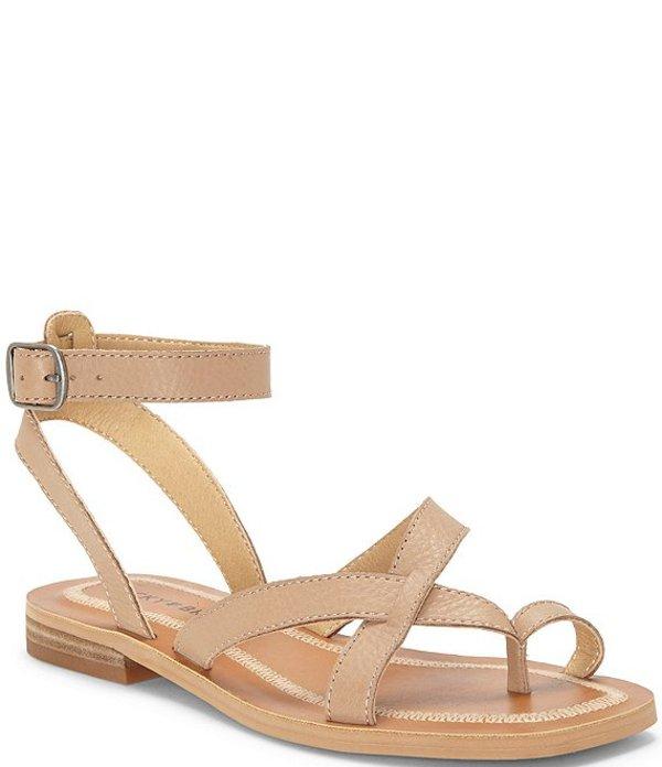 ラッキーブランド レディース サンダル シューズ Avonna Leather Flat Strappy Sandals Stone
