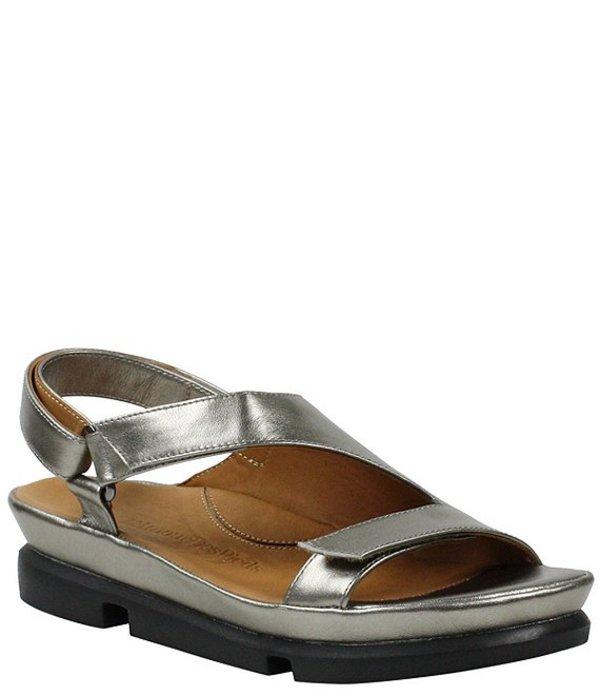 ラモールドピード レディース サンダル シューズ L'amour Des Pieds Villarmosa Metallic Leather Sandals Pewter Metallic