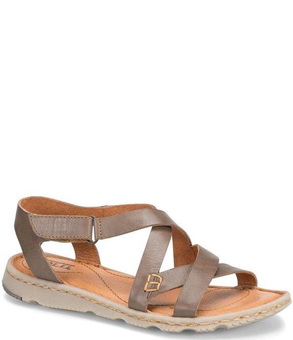 ボーン レディース サンダル シューズ Trinidad Leather Strappy Sandals Taupe
