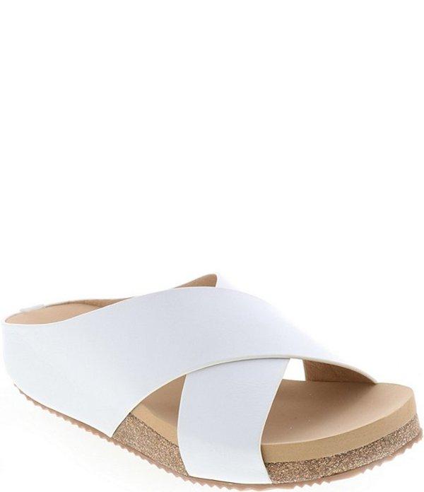 ボラティル レディース サンダル シューズ Agassi Leather Cross-Band Slides White