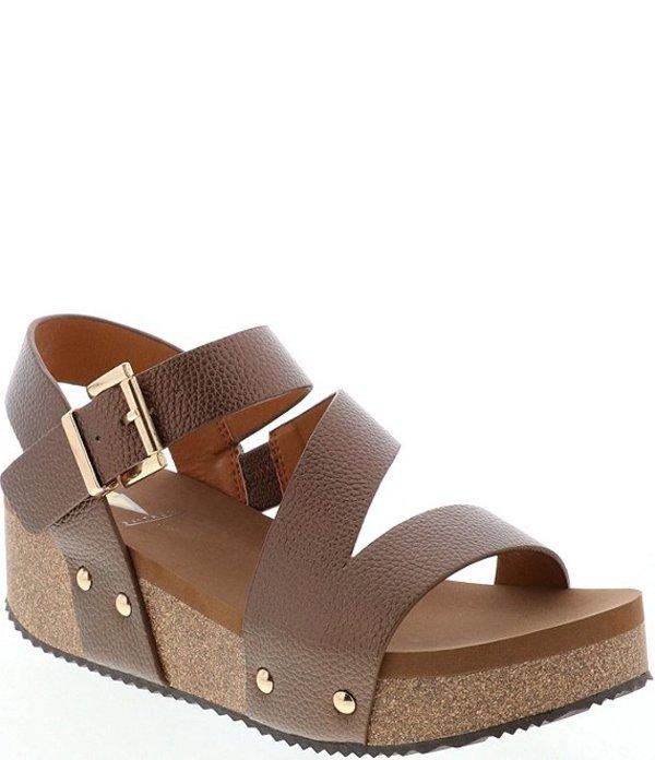 ボラティル レディース サンダル シューズ Biloxi Metallic Strappy Wedge Sandals Bronze