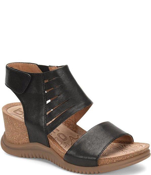 ビオニカ レディース サンダル シューズ Gracen Leather Wedge Sandals Black