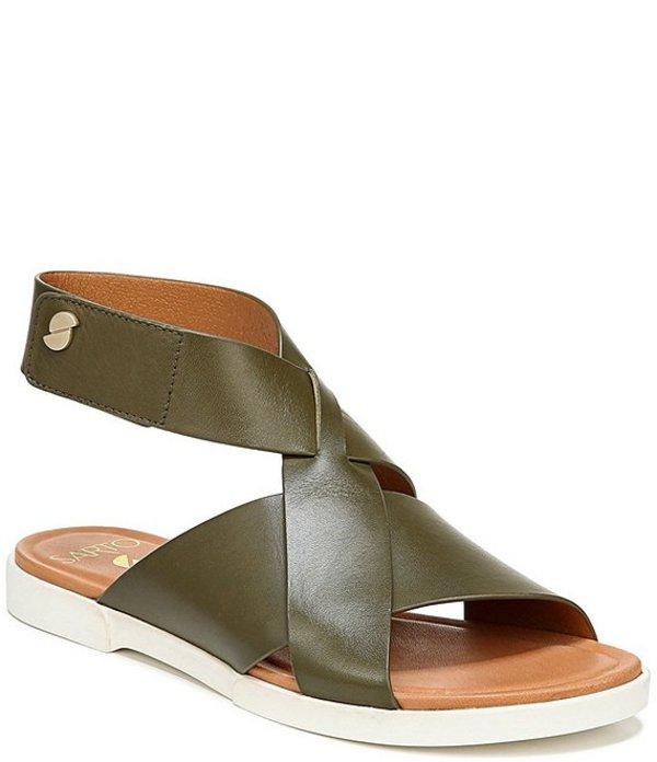 フランコサルト レディース サンダル シューズ Sarto by Franco Sarto Akasha Leather Banded Sandals Olive