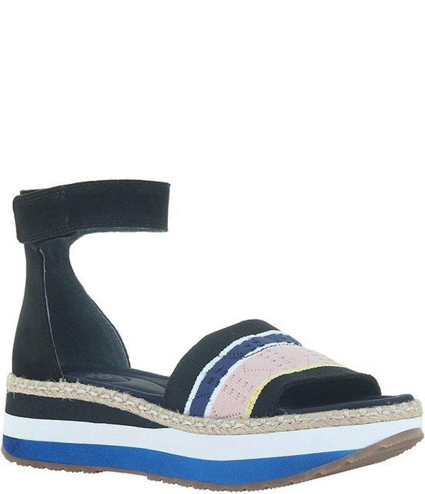 オーティービーティー レディース サンダル シューズ Clearwater Leather and Knit Colorblock Espadrille Sandals Black