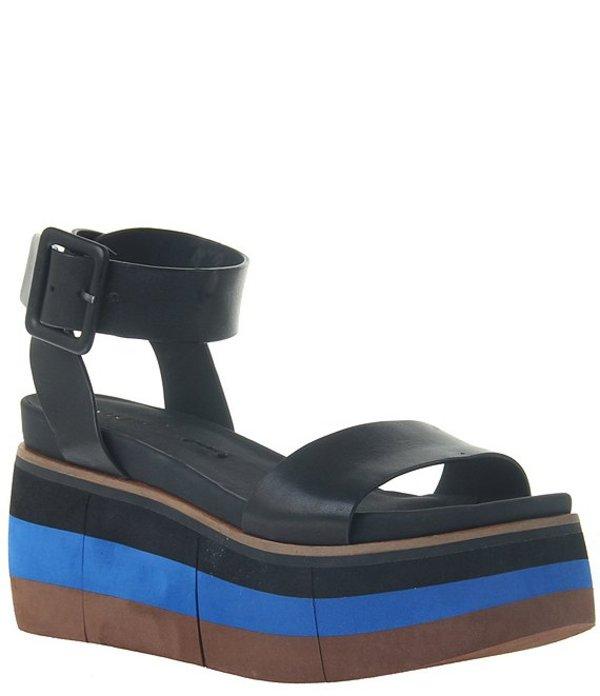 ネイキッドフィート レディース サンダル シューズ Altezza Leather Layered Platform Wedge Sandals Black