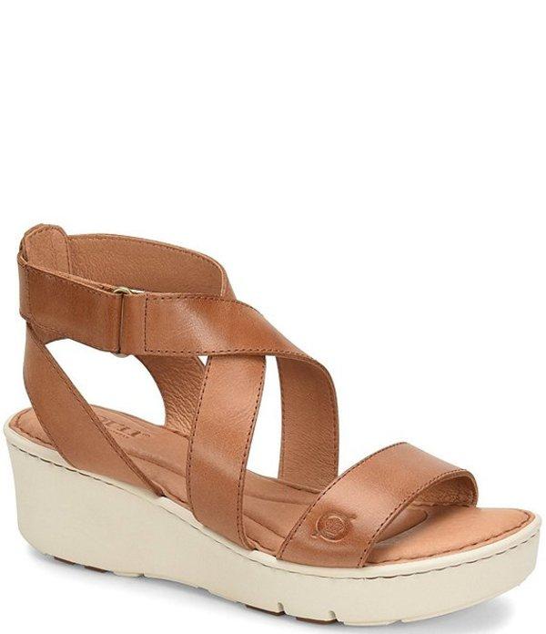 ボーン レディース サンダル シューズ Deshka Banded Leather Sport Wedge Sandals Tan