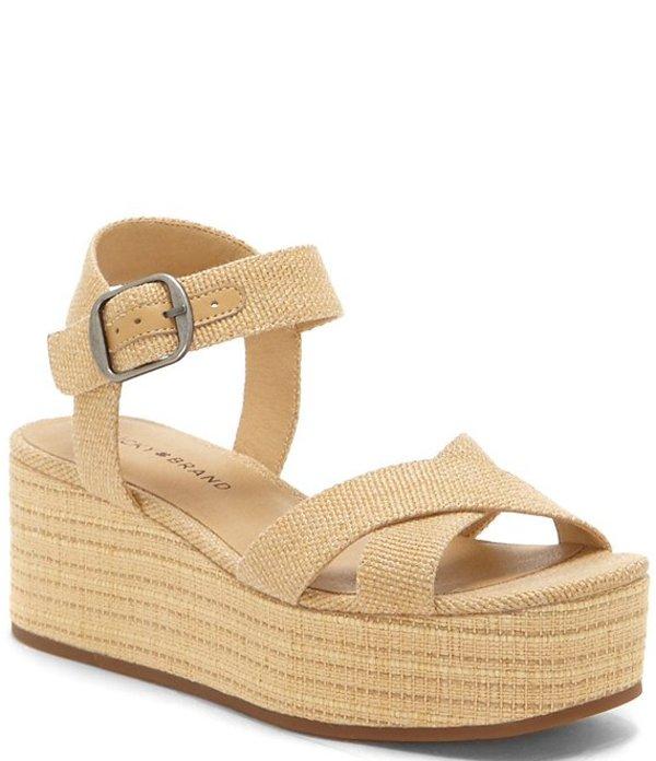 ラッキーブランド レディース サンダル シューズ Bainda Woven Flatform Sandals Natural
