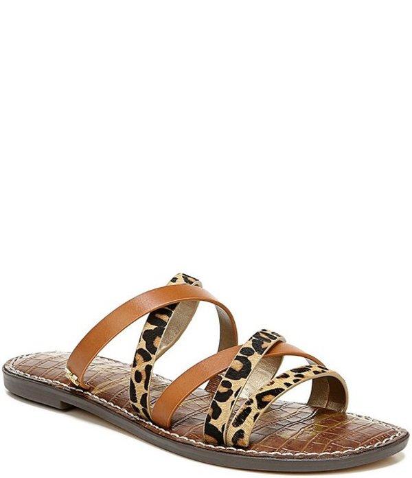 サムエデルマン レディース サンダル シューズ Giana Leopard Print Strappy Sandals Saddle/New Nude