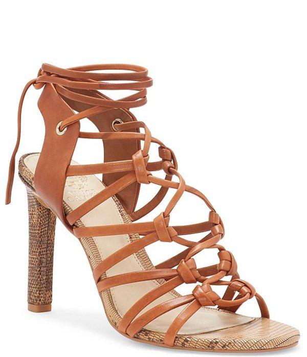 ヴィンスカムート レディース サンダル シューズ Sherinda Strappy Leather Dress Sandals Camel Brown