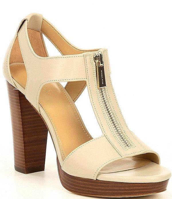 マイケルコース レディース サンダル シューズ MICHAEL Michael Kors Berkley Zipper Dress Sandals Light Sand