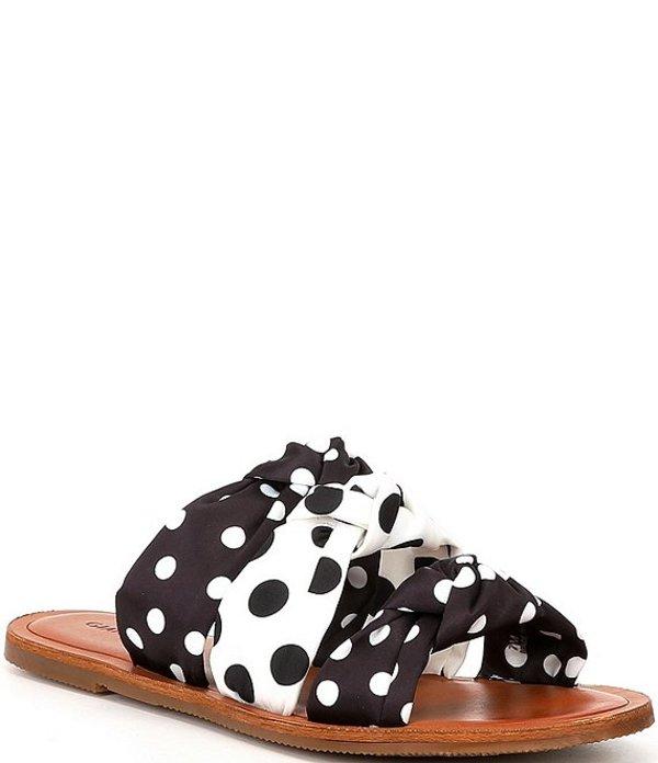 ジャンビニ レディース サンダル シューズ Beekan Polka Dotted 3-Knot Slide Sandals Black/White