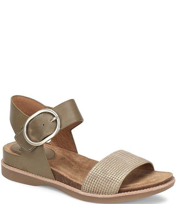 ソフト レディース サンダル シューズ Bali Metallic Leather Sandals Olive