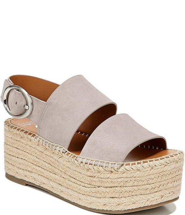 フランコサルト レディース サンダル シューズ Sarto by Franco Sarto Mariana Espadrille Flatform Sandals Grey