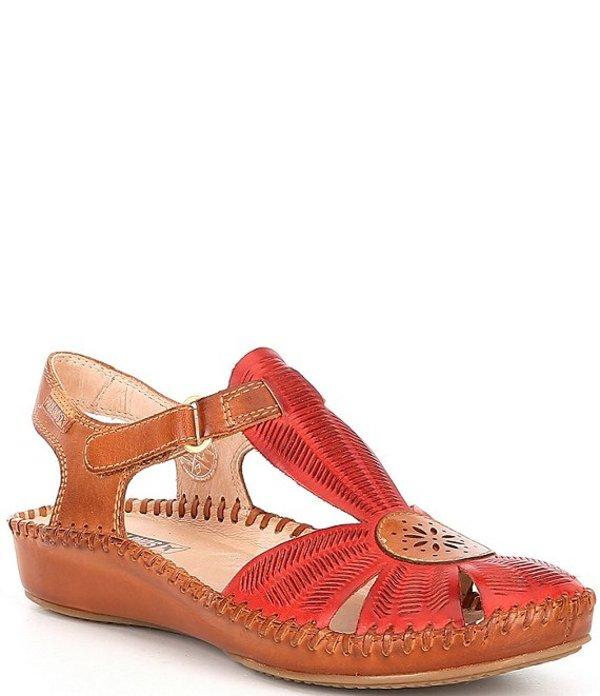 ピコリーノス レディース サンダル シューズ P Vallarta Water Resistant Leather T-Strap Sandals Coral Brandy