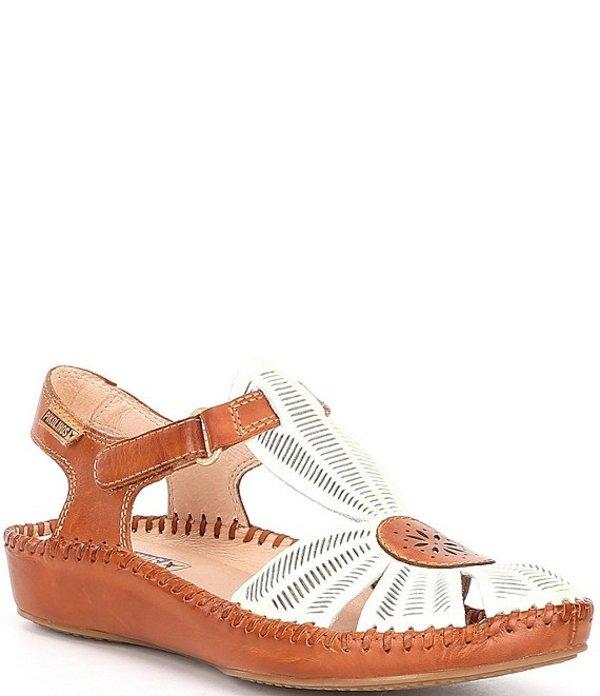 ピコリーノス レディース サンダル シューズ P Vallarta Water Resistant Leather T-Strap Sandals Nata Brandy