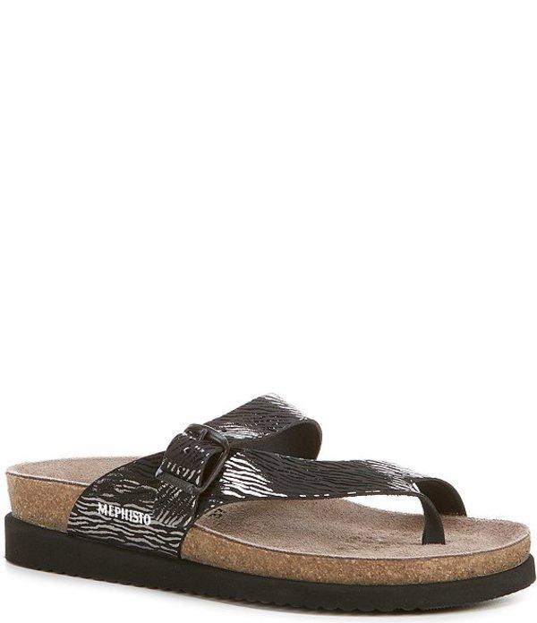メフィスト レディース サンダル シューズ Helen Buckle Detail Leather Casual Sandals Black