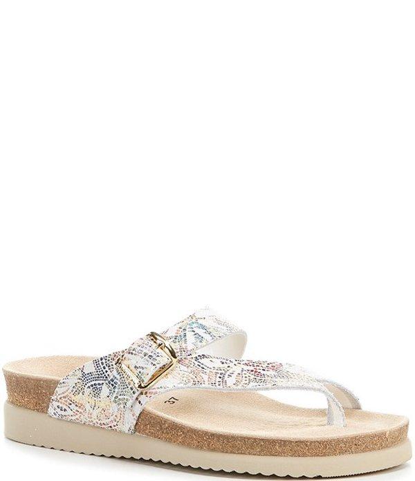 メフィスト レディース サンダル シューズ Helen Buckle Detail Leather Casual Sandals Mul Pom