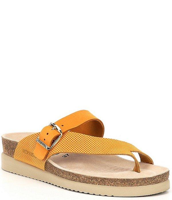 メフィスト レディース サンダル シューズ Helen Mix Slide Thong Sandals Mustard/Burnt Orange