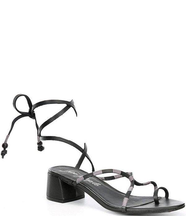 フリーピープル レディース サンダル シューズ Hermosa Leather Lace Up Block Heel Sandals Black