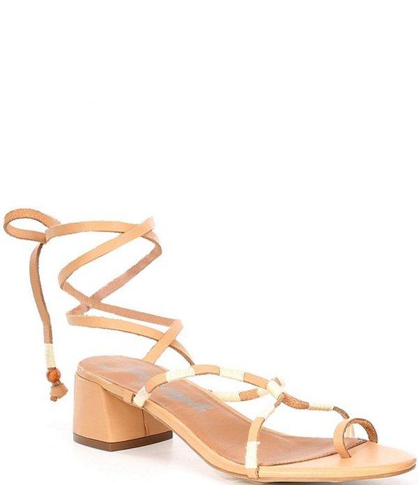 フリーピープル レディース サンダル シューズ Hermosa Leather Lace Up Block Heel Sandals Natural
