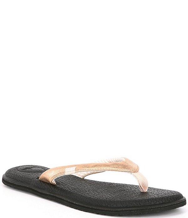 サヌーク レディース サンダル シューズ Yoga Chakra Metallic Thong Sandals Rose Gold