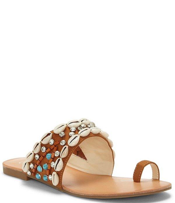 ジェシカシンプソン レディース サンダル シューズ Abira Shell Toe Loop Flat Sandals Brown