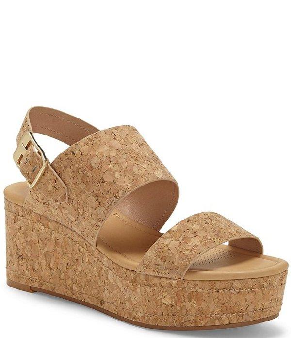 コルソ コモ レディース サンダル シューズ Fairen Cork Wedge Sandals Natural