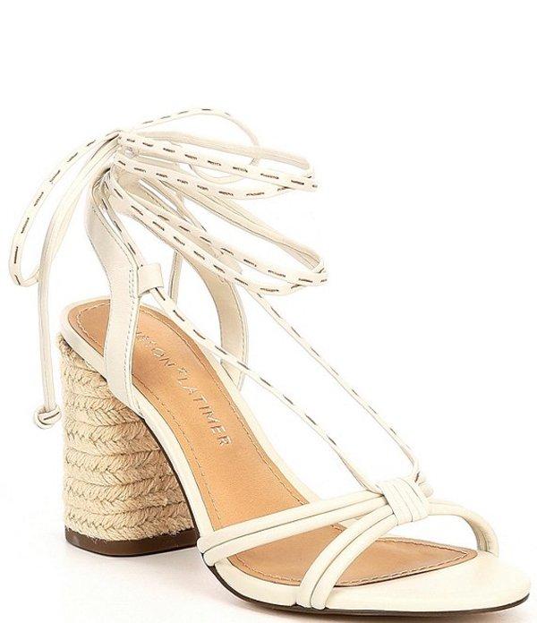 ギブソンアンドラティマー レディース サンダル シューズ Tasha Strappy Leather Lace Up Sandals White