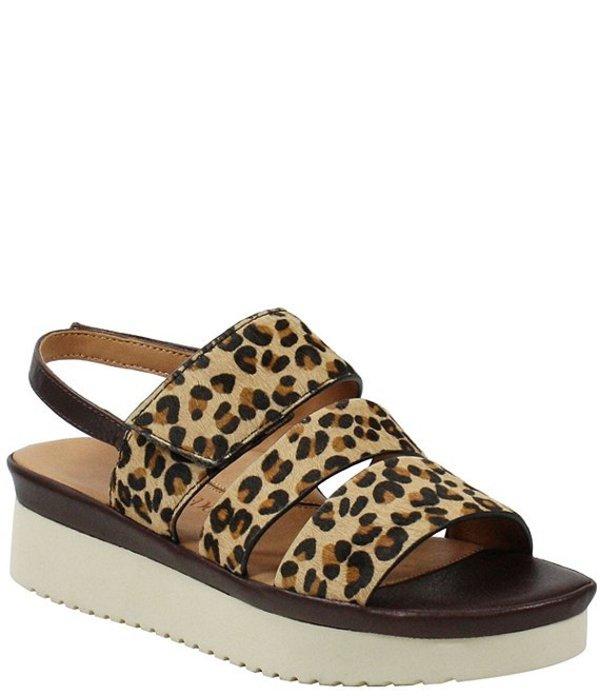 ラモールドピード レディース サンダル シューズ L'amour Des Pieds Amelcia 3 Band Leopard Print Calf Hair Strappy Sandals Brown/Black Leopard