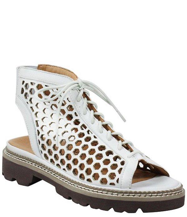 ラモールドピード レディース サンダル シューズ L'amour Des Pieds Dantu Perforated Leather Lace Up Sandals White Lamba