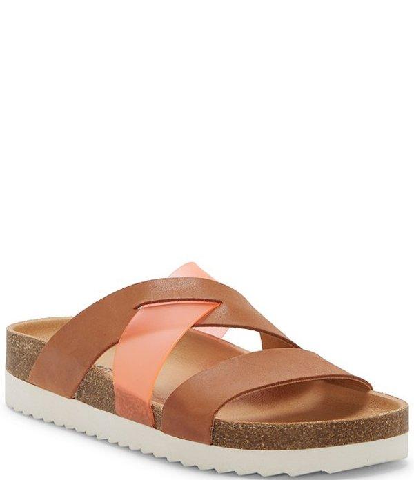ラッキーブランド レディース サンダル シューズ Hafina Footbed Strappy Sandals Latte/Grenadine