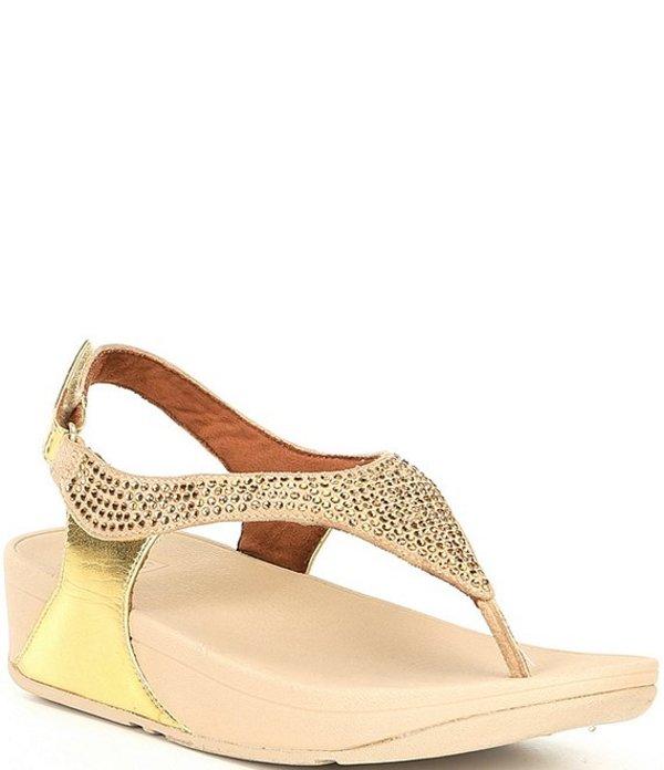 フィットフロップ レディース サンダル シューズ Skylar Jewel Embellished Thong Sandals Gold