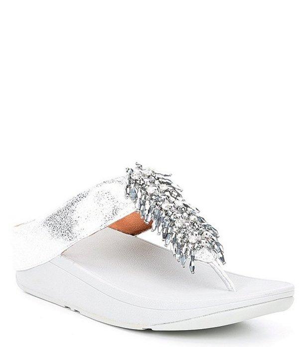 フィットフロップ レディース サンダル シューズ Velma Beaded Thong Sandals Silver